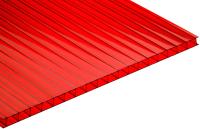 Сотовый поликарбонат TitanPlast 1050x2000x4 (красный) -