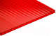 Сотовый поликарбонат TitanPlast 6x1050x2000 (красный) -