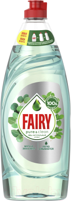 Средство для мытья посуды Fairy Pure & Clean Мята и Эвкалипт (650мл)