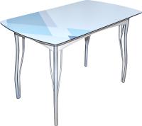Обеденный стол BTS Геометрик 70x120 (хром) -