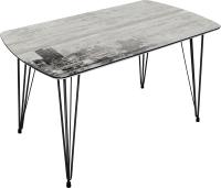 Обеденный стол BTS Город 70x120 (ножки черные) -
