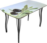 Обеденный стол BTS Олива 70x120 (ножки черные) -