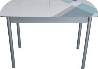 Обеденный стол BTS Геометрик раздвижной 70x120 (хром) -