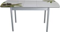 Обеденный стол BTS Олива раздвижной 70x120 (хром) -