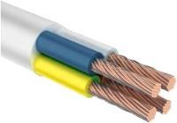 Провод силовой Ecocable ПВС 4x1.5 (10м, белый) -
