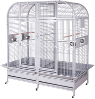 Клетка для птиц MONTANA Palace / K35031 (светло-серый) -