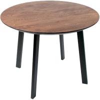 Обеденный стол Alta Round 1000 (мореный дуб/M черный) -
