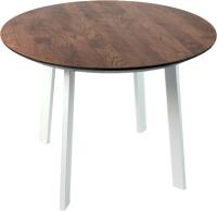 Обеденный стол Alta Round 1000 (мореный дуб/M белый) -