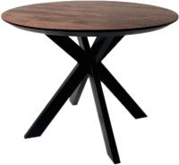 Обеденный стол Alta Round 900 (мореный дуб/E черный) -