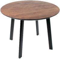 Обеденный стол Alta Round 1100 (мореный дуб/M черный) -