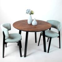 Обеденный стол Alta Round 900 (мореный дуб/M черный) -