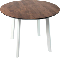 Обеденный стол Alta Round 900 (мореный дуб/M белый) -