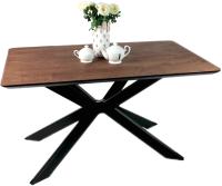 Обеденный стол Alta Square 85x140 (мореный дуб/E черный) -