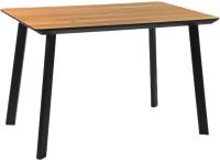 Обеденный стол Alta Square 80x120 (натуральный дуб/M черный) -