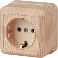 Розетка INTRO Quadro 2-202-11 / Б0027651 (сосна) -