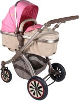 Детская универсальная коляска Lorelli Aurora Air Rose Beige Fashion Girl / 10020951746 -