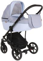 Детская универсальная коляска Pituso Confort Plus 2 в 1 (джинс/кожа голубой) -