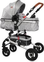 Детская универсальная коляска Lorelli Alba 3 в 1 Light Grey без сумки, кожа / 10021472061L -