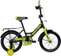 Детский велосипед Black Aqua Fishka 20 KG2027 со светящимися колесами (хаки/лимо) -