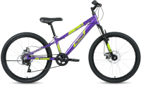 Велосипед Forward Altair 24 D 2021 / RBKT1J347005 (фиолетовый/зеленый) -