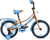 Детский велосипед Forward Azure 16 2021 / 1BKW1K1C1002 (бежевый/голубой) -