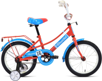 Детский велосипед Forward Azure 16 2021 / 1BKW1K1C1004 (коралловый/голубой) -