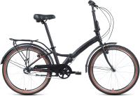 Велосипед Forward Enigma 24 3.0 2021 / 1BKW1C443002 (черный матовый/красный) -