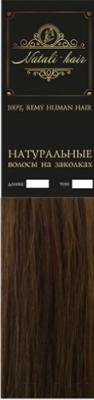 Прядь волос на заколках Flario 17x55 тон 6 (золотисто-русый)