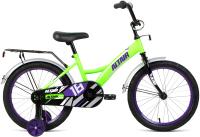 Детский велосипед Forward Altair Kids 18 2021 / 1BKT1K1D1004 (ярко-зеленый/фиолетовый) -
