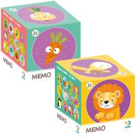 Набор игр Dodo Мемо. Дикие Животные. Фрукты и Овощи -