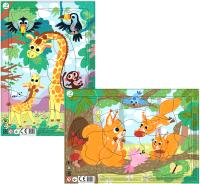 Набор пазлов Dodo Жираф. Белочки -
