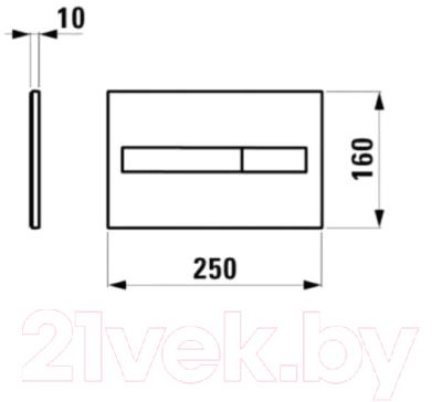 Кнопка для инсталляции Laufen 8956610040001 (хром)