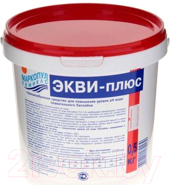 Средство для регулировки pH Маркопул Кемиклс ЭКВИ-плюс в ведре (0.5кг)