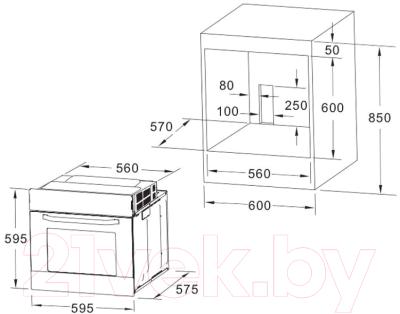 Электрический духовой шкаф Akpo PEA 7009 SED01 BL