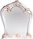 Зеркало Мебель-КМК Розалия 0456.5 (белый/белый жемчуг/патина золото) -