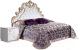 Двуспальная кровать Мебель-КМК Розалия 0456.6 (белый/белый жемчуг/патина золото) -