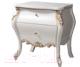 Прикроватная тумба Мебель-КМК Розалия 1 0524 (белый/белый жемчуг/патина золото) -