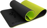 Коврик для йоги и фитнеса Original FitTools FT-YGM10-TPE-BG TPE (черный/зеленый) -