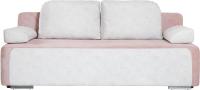 Диван KRONES Атлант (велюр розовый/белый) -