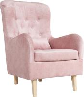 Кресло мягкое KRONES Калипсо (велюр розовый) -