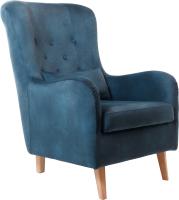 Кресло мягкое KRONES Калипсо (велюр темно-синий) -