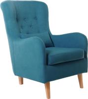 Кресло мягкое KRONES Калипсо (велюр лазурный) -