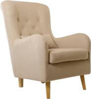 Кресло мягкое KRONES Калипсо (велюр бежевый) -