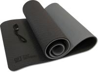 Коврик для йоги и фитнеса Original FitTools FT-YGM10-TPE-BCGY (черный/серый) -