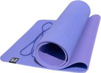 Коврик для йоги и фитнеса Original FitTools FT-YGM6-2TPE-1 (фиолетовый/сиреневый) -