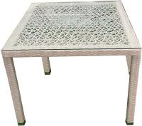 Стол садовый Mebius Turin T003 / 190051 (белый) -