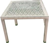 Стол садовый Mebius Turin T003 / 190054 (белый) -