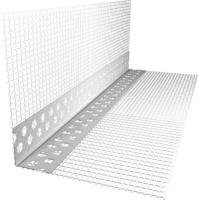 Уголок штукатурный Ecotex ПВХ 100x150x2500мм с сеткой -