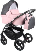 Детская универсальная коляска Alis Orion 2 в 1 (Or 04, темно-серый/розовый) -