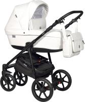 Детская универсальная коляска INDIGO Broco Eco F 3 в 1 (Be 01, белая кожа) -